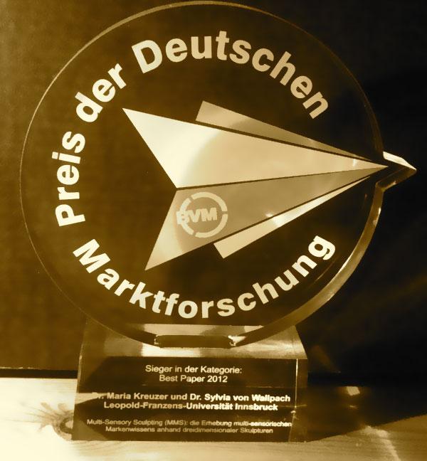 E: German Market Research Award / Preis der Deutschen Marktforschung 2012 – Best Paper